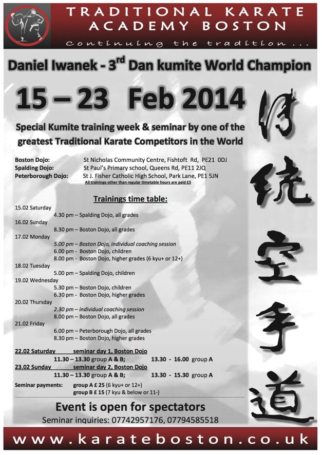 Seminar Iwanek timetable