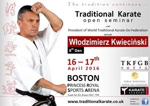 Seminar with sensei W. Kwiecinski 8 Dan - details